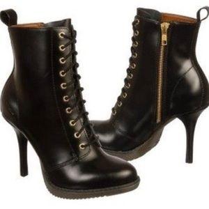 Dr. Martens Kimora Combat High Heel Ankle Boots